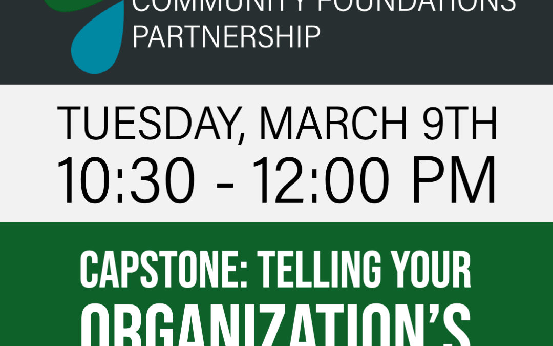 Free Webinar: Telling Your Organization's Story for Impact