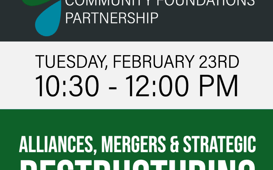 Free Webinar: Alliances, Mergers and Strategic Restructuring